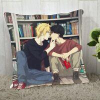 Banana fish Fish Ash Okumura Eiji Couple Anime Pillow Case Cushion Cover 40x40cm