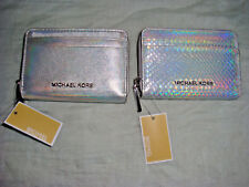 MICHAEL KORS Leather ZA Card Case Zip Around Wallet (Select Colors) NWT!!!$68