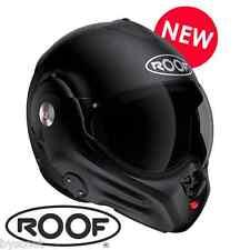 Casque convertible ROOF Desmo RO32 New Génération noir mat intégral jet moto
