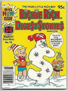 Richie Rich Digest Stories #15 (Harvey, 1982) – File Copy – Casper – NM