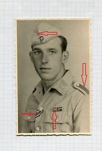Portraitfoto Soldat Südfront Uniform  Luftwaffe Orden Schiffchen