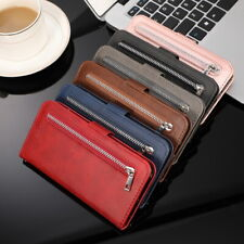 Zip Wallet Flip Case Leather Card Pocket Cover For Huawei P30 P20 Mate 20 Lite