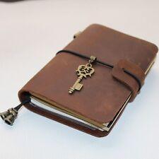 Handmade Vintage Traveler's Notebook Diary Journal Blank Leather Cover D0407