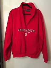 NCC Apparel -  OHIO STATE BUCKEYES Red Fleece Pullover Jacket Size Large
