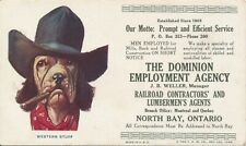 NORTH BAY ONTARIO CANADA PR. BLOTTERS DOMINION EMPLOYMENT RAILROAD AND LUMBERMAN