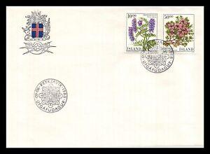Iceland 1988 FDC, Flowers IX. Lot # 2.