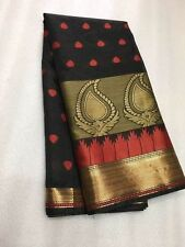 Traditional Designer Indian Saree Fabric Sari Cotten Silk Partywear.Wedding Sari