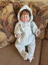 """Cherish 041287 Lee Middleton 5103 baby 1987 Original blue bunting Bible 24"""""""