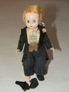 #377 Blonde Bridegroom Bend-knee Walker Madame Alexander-kins Striped Trousers