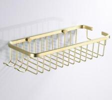Brushed Gold Shower Caddy Basket Storage Shelf Stainless Steel Bathroom Tiolet