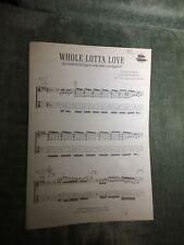 Whole Lotta Love Led Zeppelin II partition guitare tablature éditions Warner