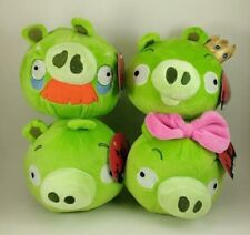 Angry Birds Green Pig Plush Lot King Crown Mustache Foreman Pink Bow Girl NEW