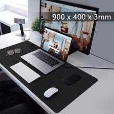 More details for black 90x40cm extra large anti-slip gaming mouse mat pc laptop keyboard desk pad