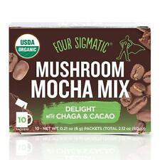 FOUR SIGMATIC Mushroom Mocha Mix with Chaga & Cacao 10 Sachets