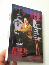 1993, Roy Firestone Up Close Signed Autographed, Hbw/dj, 1st/1st, Vg
