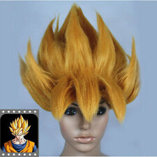 Anime Dragonball Z Cosplay Costume Wig Goku Saiyan Wig Hair Gold Party Halloween