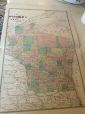 Wisconsin Map 1881  Michigan Atlas History