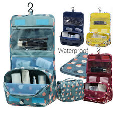 Waterproof Travel Cosmetic Bag Women Makeup Pouch Toiletry Hanging Organizer Bag