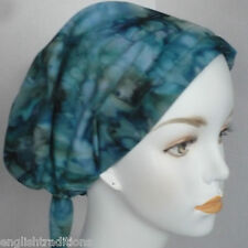 Hand Dyed Batik Cancer Chemo Hair Loss Head Wrap Scarves Hat Alopecia Covering