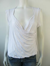 Caroline Biss Stretch Top Shirt T-Shirt Weiss Neu 46