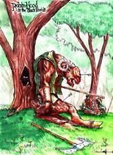 Original fantasy art ROBIN HOOD IN THE BLACK FOREST by Mahlon Fawcett