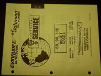USED 95 Evinrude Johnson Outboards 88 90 115 80Jet Models PARTS CATALOG MANUAL