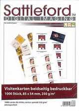 Visitenkarten 1000 Karton beidseitig Druck 250g microperforiert Sattlefod 85x54m