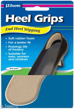 3 pr. JT Foote HEEL GRIPS Rubber Heel Grippers Liners Pads Tighten Shoes 3 Pair