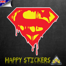 Superman Bloody Bleeding Logo Luggage Car Skateboard Laptop Vinyl Decal Sticker