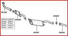 LIGNE ECHAPPEMENT COMPLETE CHASSIS LONG MITSUBISHI PAJERO 2.5 TD V24 & V44  91-0