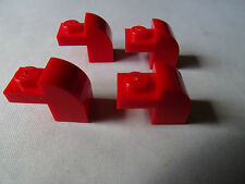 LEGO RED  MODIFIED BRICK x 4 WITH CURVED TOP PART 6091
