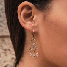 6.8 Ct Amethyst & Moonstone Gemstones Gold Filled Drop/Dangle Earrings
