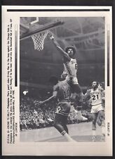 Julius Erving 76ers Layup with Afro A/P Laser Wire Photo with caption