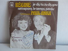 REGINE / PAUL ANKA Je dis tu tu dis you 5187