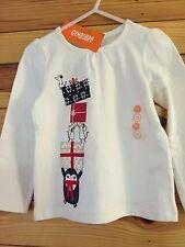 *NWT GYMBOREE* Girls HOLIDAY SHOP Penguin Gifts Long Sleeve Ivory Tee Shirt 3T