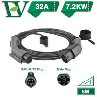 Morec EV Charging Cable 32A Electric Car Charger Type1 To Type2 7.2KW SAE J1772