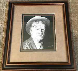 Portrait of Charles M. Russell Framed 8x10 Print By Montana Artist Trudy Evenson