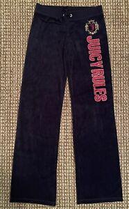 Juicy Couture Velour Blue Pants Petite