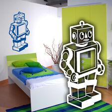 Wandtattoo Roboter, Rakete, Kinderzimmer, Wandsticker, Wandaufkleber, Wanddeko