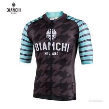NEW Bianchi Milano FLUMINI Short Sleeve Cycling Jersey : BLACK