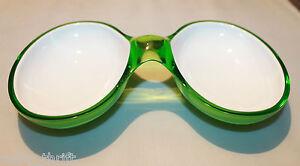 Guzzini Two Tone Acrylic Interlocking Serving Dish Bowl  Green Replacement Italy