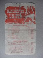 Teams A-B Bolton Wanderers FA Cup Final Football Programmes
