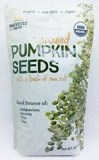 1 BAG Harvested For You SPROUTED PUMPKIN SEEDS Touch of Sea Salt ORGANIC 22 oz