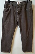 Levis 501 Brown Button Fly Jeans 39 X 29 (Tag reads 42 X 32) Straight Leg
