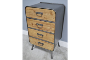 Industrial chest 4 drawer tallboy cabinet chest Steel