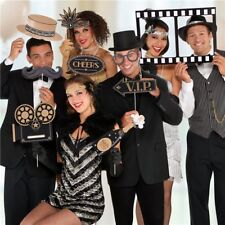 Hollywood Gatsby Party Selfie Jumbo Photo Booth Props Vip Awards Decoration X 12