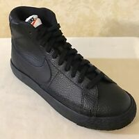 Youth Nike Blazer Mid GS lifestyle Shoes Sneaker Leather Black 895850 001