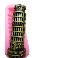 Leaning Tower Pisa Silicone Mold Chocolate Fondant Sugarcraft Cake Candle Soap