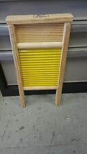 2 PZS WASHBOARD GALVANIZED WOOD AND METAL 12 INCH LARGE NEW