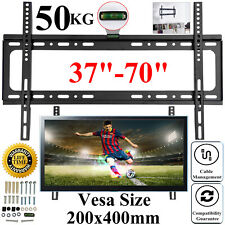 Slim Fixed TV Wall Mount Bracket For 37' 40 42 47 50 55 60 65 70' LED LCD Plasma